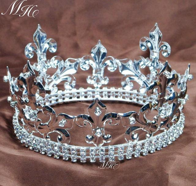 Kids Crowns Imperial Meval Silver King Children S Tiaras Wedding Pageant Prom Party Costumes Headband Hair Jewelry