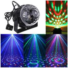 Stage Lamp Moving Head Light Party LED RBG Disco Ball DJ Sound Activated Strobe Par Light Home Dance Bar Wedding Show Stage Lamp стоимость
