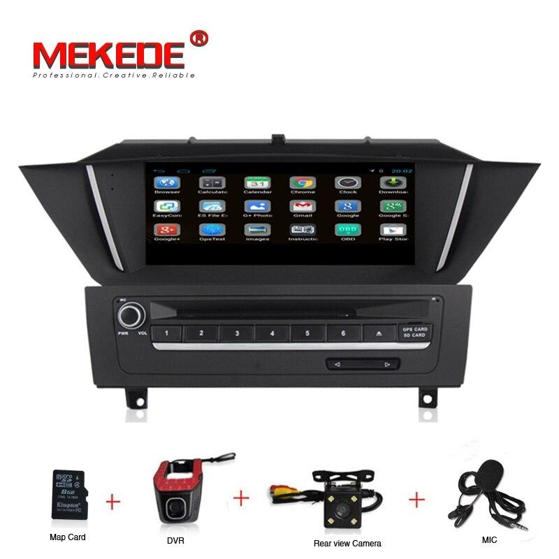 9 pouces Android lecteur DVD de voiture radio audio stéréo pour BMW X1 E84 2009-2013 USB SD BT GPS Navigation WIFI caméra DVR carte micro gratuite
