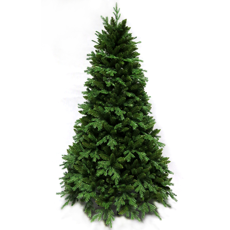 1.5 m/1.8 m/2.1 m/2.4 m arbre De Noël nu arbre noël PE + PVC feuilles mélangées ornements d'arbre De Noël