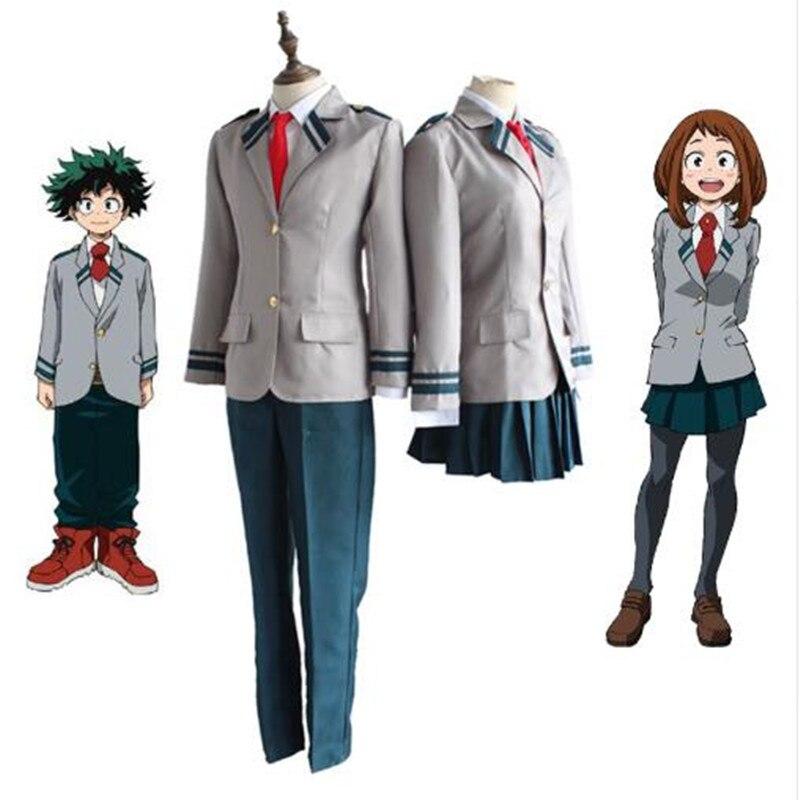 Boku Nenhum Herói Academia AsuiTsuyu Yaoyorozu Momo Uniforme Escolar Meu Herói Academia OCHACO URARAKA Midoriya Izuku Traje Cosplay