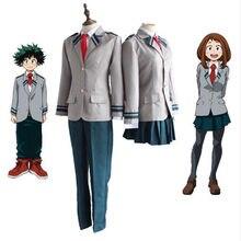 Meu herói academia ochaco uraraka midoriya izuku cosplay traje boku nenhum herói academia asuitsuyu yaoyorozu momo escola uniforme terno