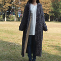 Hot sale folk style old hooded sanding waisted coat high-waisted cotton-padded clothes flocking vestidos Casual Style