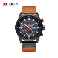 CURREN 8291 Luxury Brand Men Analog Digital Leather Sports Watches Men S Army Military Watch Man