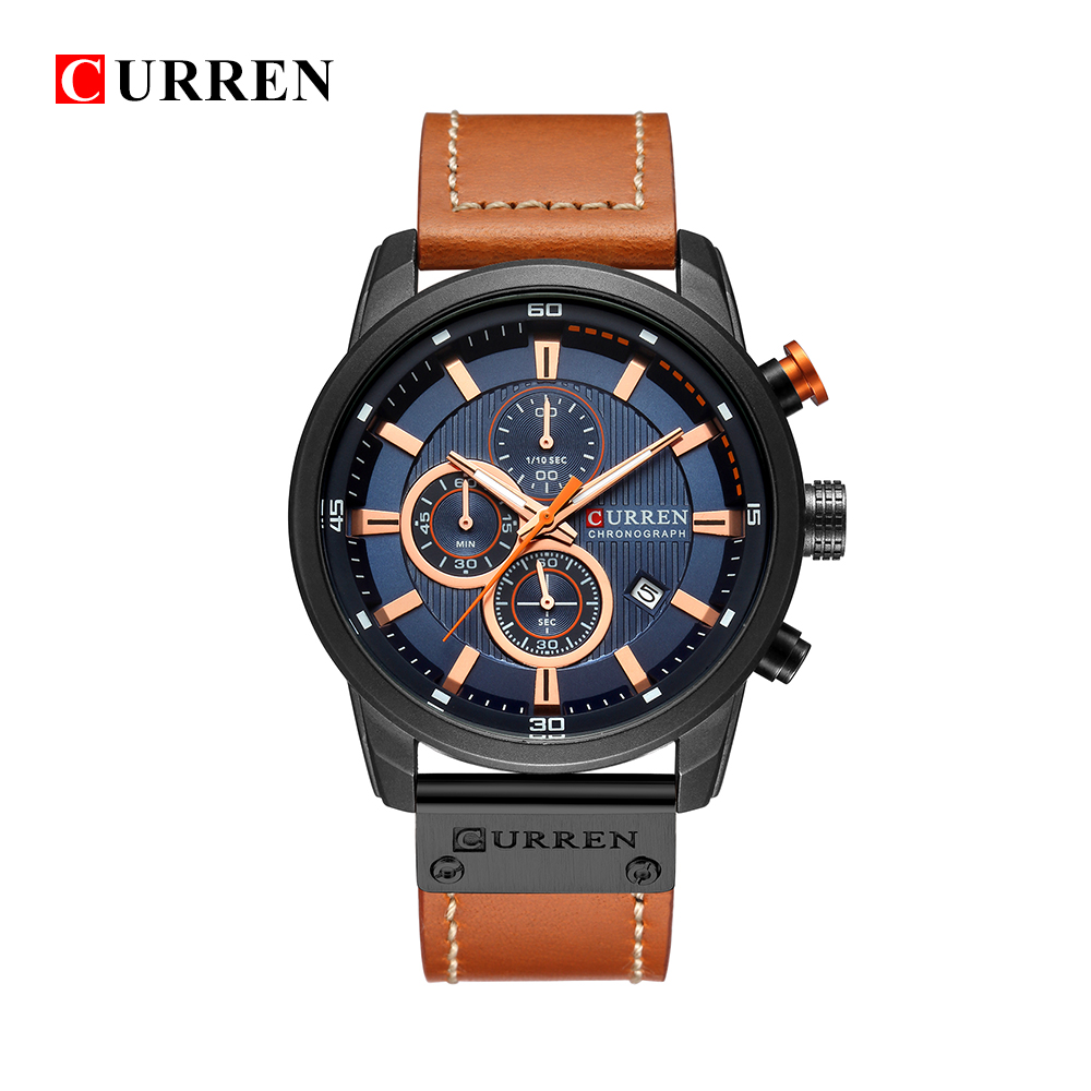 curren-8291-luxury-brand-men-analog-digital-leather-sports-watches-men's-army-military-watch-man-quartz-clock-relogio-masculino