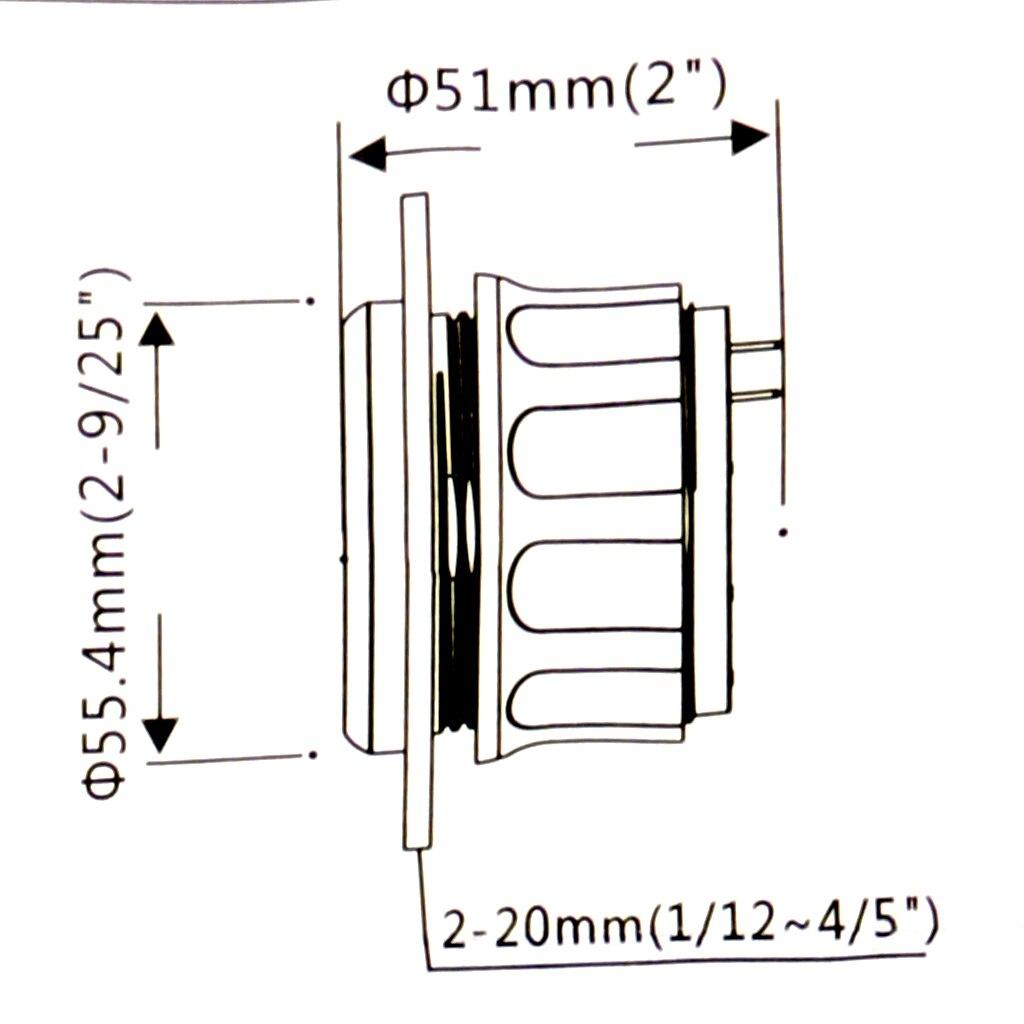 Водонепроницаемый Указатель уровня топлива лодка морской измеритель уровня заполненности резервуара 9-32V 52mm