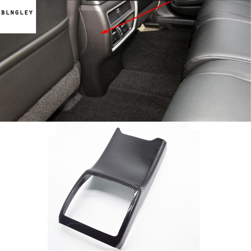 1pc ABS Carbon fiber grain rear air conditioner outlet decoration cover for 2015 2018 Nissan Murano