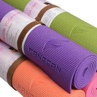 FANGCAN Профессиональный коврик для йоги из ПВХ  для пилатеса  эко-коврик для йоги  нескользящая резина  ПВХ  5 цветов в наличии