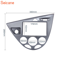 Seicane 2Din Car Stereo Fascia DVD Radio Frame Panel For 2006 Ford Fiesta Focus European LHD