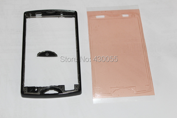 Black Ymitn New Housing For Sony Ericsson Xperia SK17 SK17i Housing Front Faceplate Frame Cover Main Home Keypads,Free Shipping