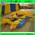 2016 los más populares Inflable Fly Fish Juguete de Agua barco, kayak de pesca barco de motor para la venta 2 tubos
