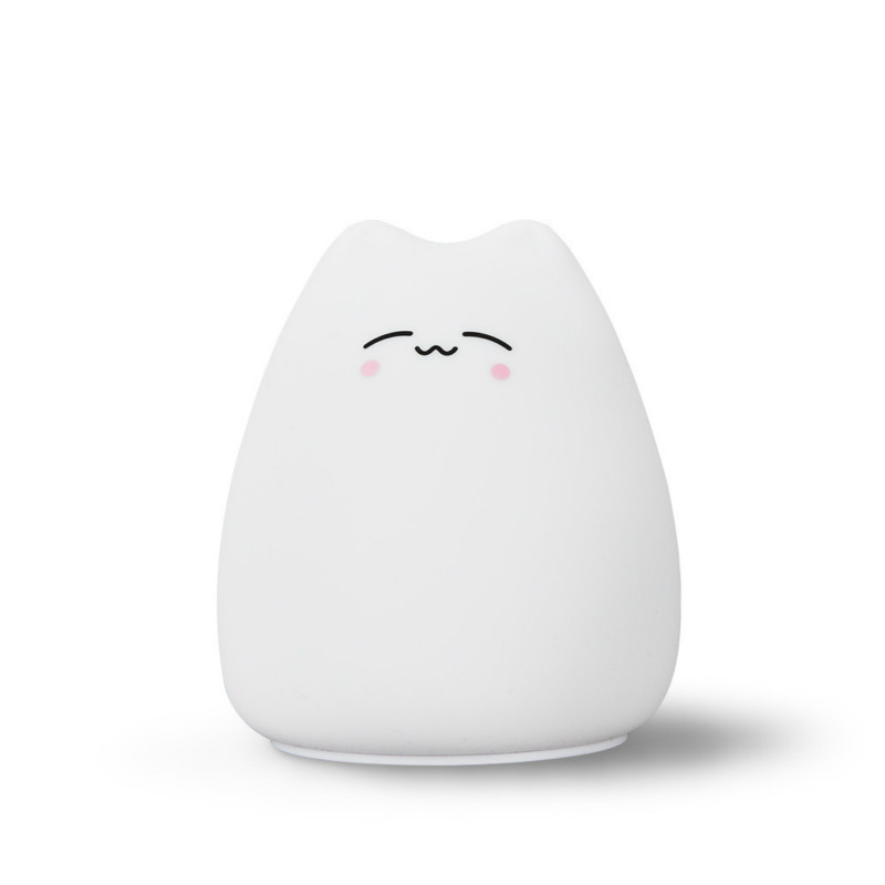 Led Night Lights Good Chengyilt Kitten Tap Tap Lamp Children Creative Cartoon Colorful Night Light Led Atmosphere Silicone Night Light Supplement The Vital Energy And Nourish Yin