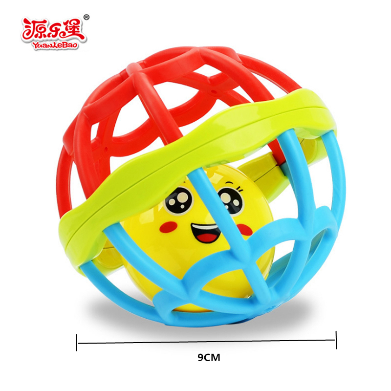 Newborn baby Educational soft speelgoed baby toys 0-12 months Grasping Gums Plastic Hand Shake Bell Ring crib Toy baby rattles