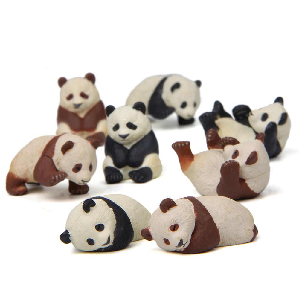 4 pcs Panda K-imã de geladeira Brinquedos PVC Mini figuras de decoração para casa de jardinagem paisagem Criativa brinquedos presente para as crianças