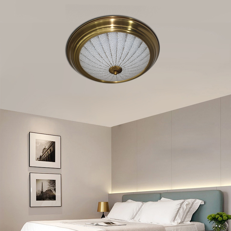 Vintage Industry Gold Rust Plated Ceiling Lamp Led 220v Bright Lights For Bedroom Living Room Dining Hotel
