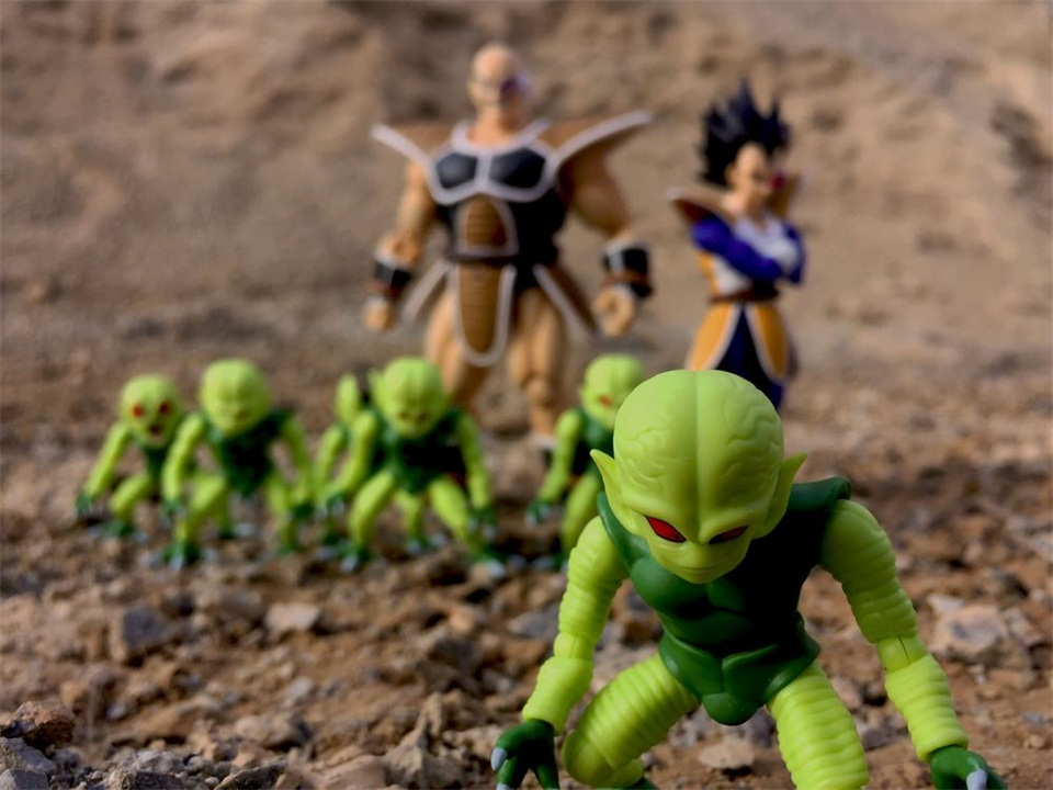 Tronzo 3 pièces/ensemble GBB figurine Dragon Ball S. H. Figuarts SHF végéta Saibaiman PVC figurine modèle jouets DBZ légume homme Figural