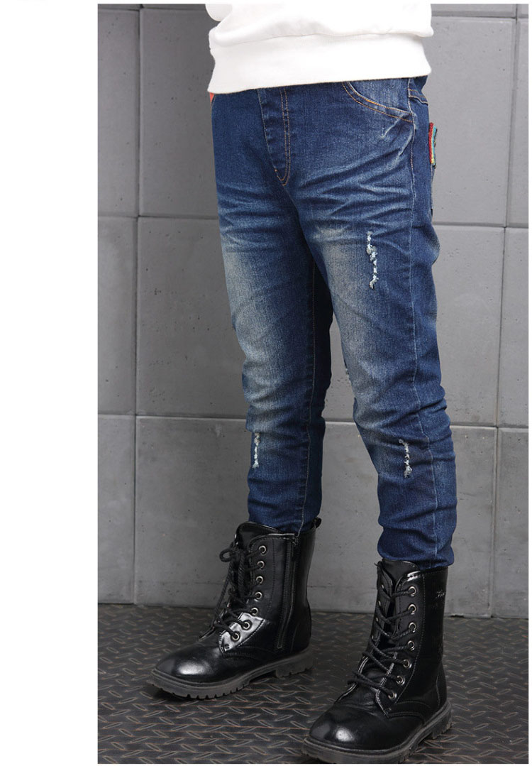 new 2017 boys ripped skinny jeans boys pants clothes teenage big little boy kids jeans for teenagers boys children deninm pants trousers clothing  (4)