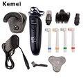 Моющийся Аккумуляторная Электробритва Kemei 4 in1 Многофункциональный Электрический Станок для бритья Бритвы Нос Волос Триммер Для Стрижки Волос