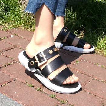 COOTELILI Summer Slippers Women Slides Flat Platforms Woman Causal Wedge Women Shoes Slip on Buckle