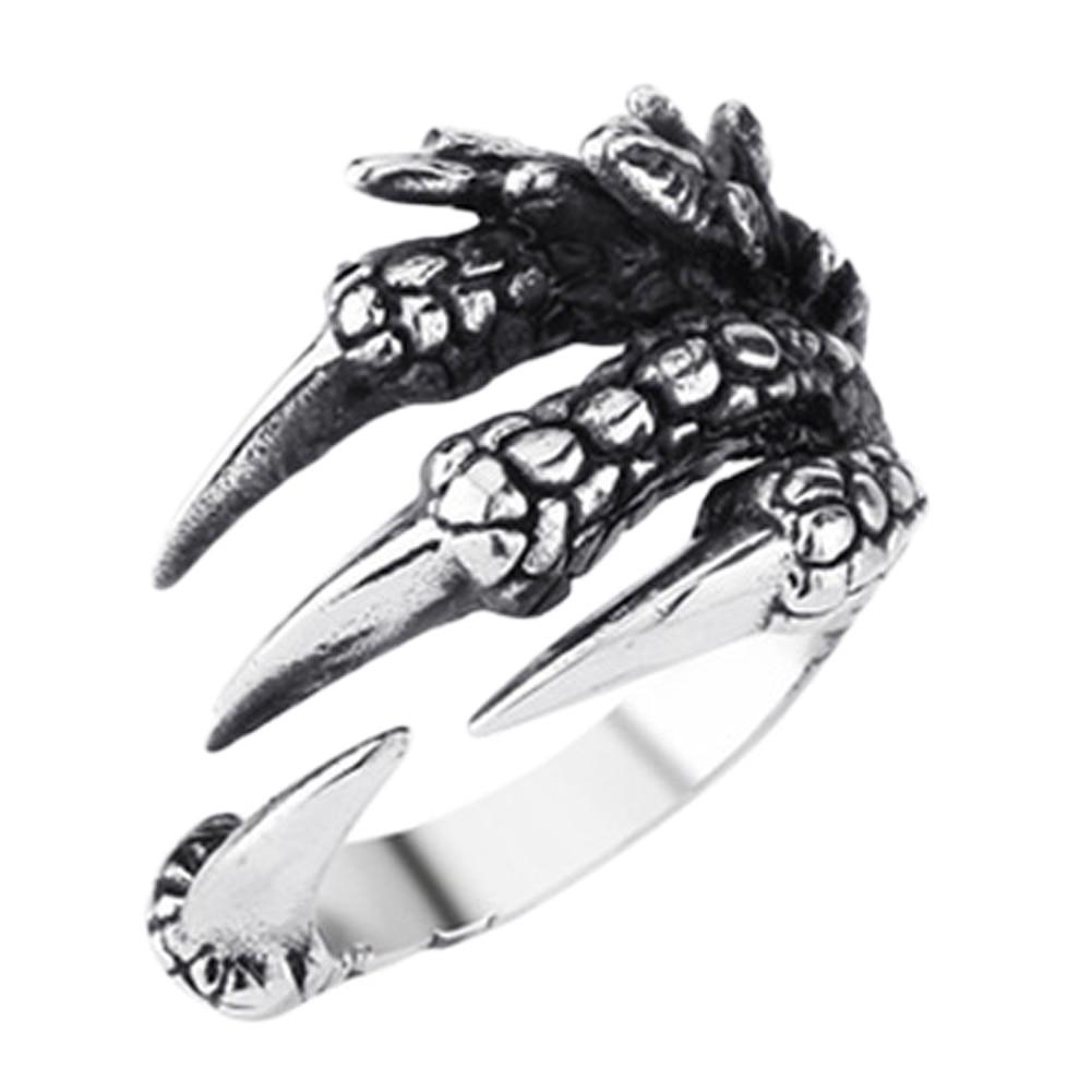 2019 Neue Personalisierte Punk Rock Ringe Edelstahl Herren Biker Ringe Vintage Gothic Schmuck Drachen Klaue Ring Für Männer Geschenk