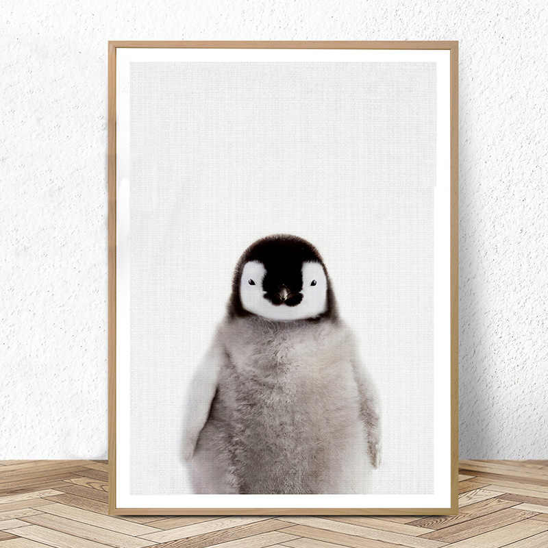 Cute Penguin Print Nursery Wall Art Baby Animal Prints Babies Room Poster Canvas Painting Pictures Kids Bedroom Decoration