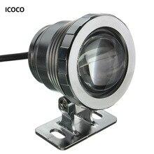 ICOCO Водонепроницаемый 10 Вт RGB светодиодный светильник садовый фонтан бассейн пруд Точечный светильник супер яркий подводный светильник с пультом дистанционного управления