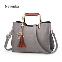 Nevenka Brand Design Women Luxury Handbags Female Tassel Sequined Messenger Bag Quality Leather Tote Solid Zipper