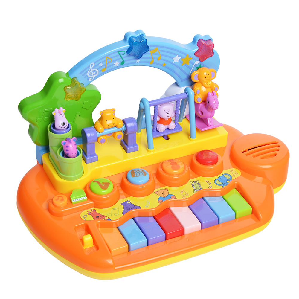 Baby Mini Musical Toys Animal Farm Piano Electronic Keyboard Music Educational Development Instrument Toy for Children 11 key electronic music box piano toy red 3 x aa