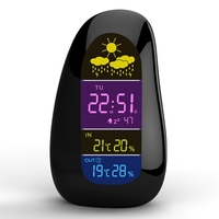 Smart Weather Station In/Outdoor Digital Cobblestone Household Thermometer Hygrometer Alarm Clock Remote Sensor Weather Forecast