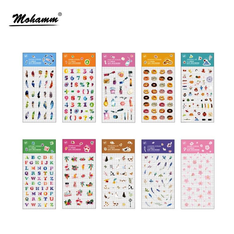 цены на Creative Cute Plants Foods PVC Cartoon Decoration Stickers DIY Ablum Diary Sticker Scrapbooking Label Kawaii Stationery Stickers в интернет-магазинах