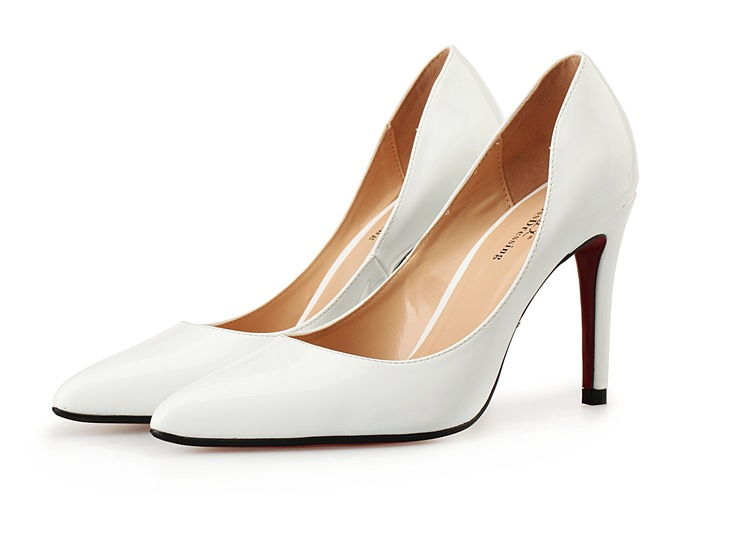 ФОТО New 2016 spring summer shoes woman high heels shoes party wedding pointed toe women pumps size 40-48 solid heeles shoes