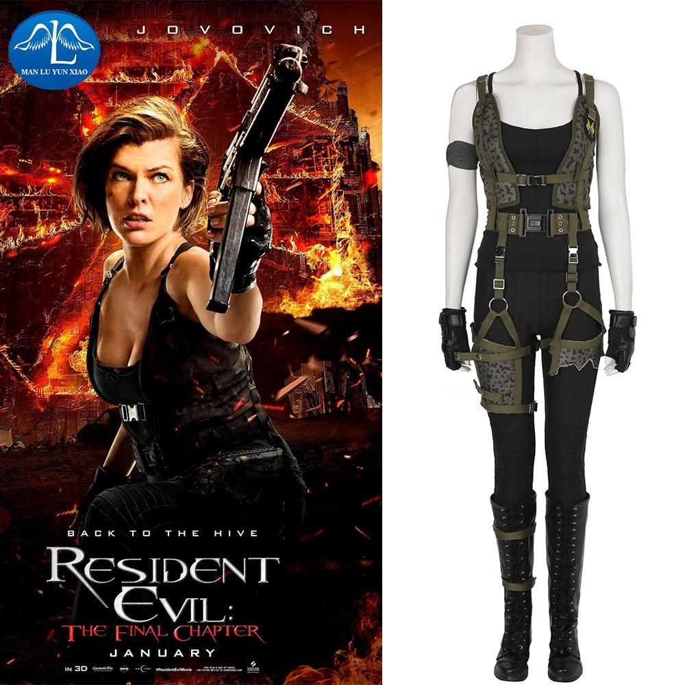 19ac6fc0c220 MANLUYUNXIAO Dámské oblečení Resident Evil  Závěrečná kapitola Alice  Cosplay kostým Halloween pro ženy Cust.