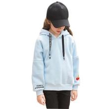 Girl Hoodies Clothing Winter Long Sleeve Fleece Warm Teen Girls Coat  10 11 12 13 14 15 16 8 5 Years With Hooded Kid Clothes недорого