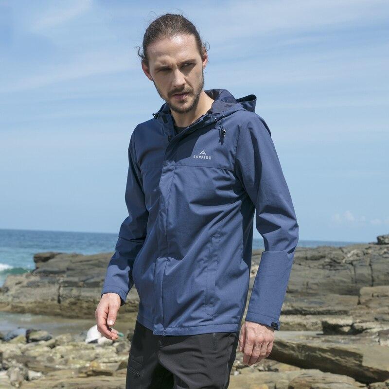 Supfire veste de randonnée hommes chasse cyclisme coupe-vent mâle pêche vêtements tactiques séchage rapide imperméable sport manteau C031 - 2