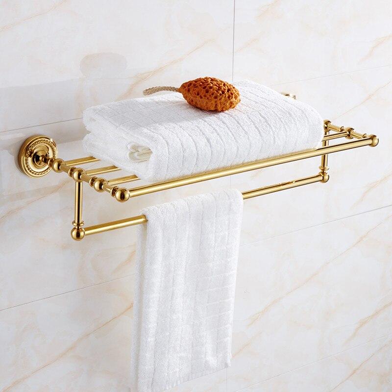 Bronze Dourado Prateleira Do Banheiro Do Banheiro