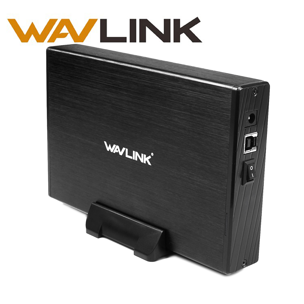 Wavlink USB3.0 to 3.5 Inch SATA 1/2/3 HDD SSD External Hard Disk Drive Enclosure Support UASP&10TB SSD Adapter with USB3.0 Cable ugreen hdd enclosure sata to usb 3 0 hdd case tool free for 7 9 5mm 2 5 inch sata ssd up to 6tb hard disk box external hdd case