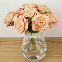 1PC Romantic Artificial Rose Flower DIY Silk flowers fresh Flores for Wedding Party Home Holiday Decoration