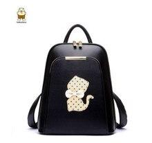 2017 бренд женский, черный рюкзак Роскошные Дизайнерские винтажные женские рюкзаки для девочек-подростков Высокое качество искусственная кожа дорожные сумки