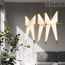 EKOO Modern LED Bird Pendant Lights For Restaurant Living Room Dining Childrens Design Lamp