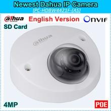 English Firmware Dahua 4MP IP Camera DH-IPC-HDBW4421F 2688*1520 Support Onvif and SD Card WDR IR distance 20m IPC-HDBW4421F