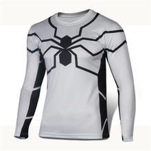 High Quality 2015 Marvel Captain America 2 Winter Soldier costume 3d Super Hero jersey Men's T shirts Long sleeve T-shirt O-neck