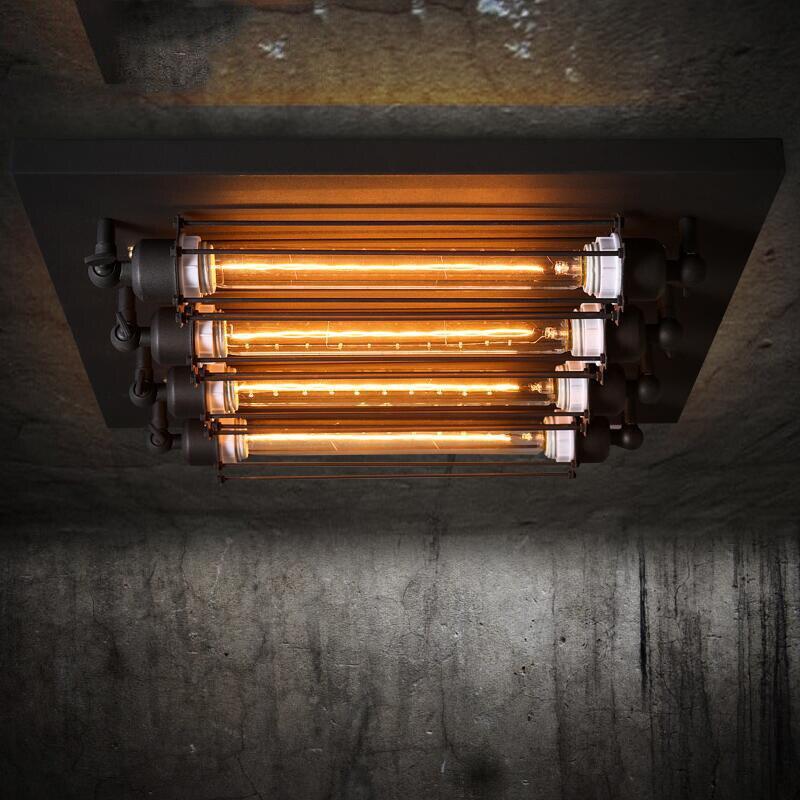 4 głowice Loft RH restauracja lampa sufitowa Retro Punk kuchnia sufit światło Bar kawiarnia żarówki edisona światło darmowa wysyłka