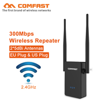 цена на Comfast 300Mbps Wireless WIFI Router 10dBi Antenna wifi Repeater Wi fi Rang Extender Roteador 802.11b/g/n RJ45 Wilreless-N Wi-fi