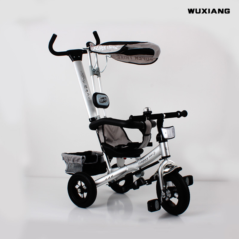 c4caa3fa745 Wuxiang Children/Bicycle Kids Trike/Pedicab /Aluminum Alloy Tricycle,  Pneumatic tire, 3 Wheel Bicycle with Back Carriage-in Bicycle from Sports  ...