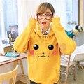 Pikachu Cosplay Sudaderas Con Capucha Suéter de Manga Larga Amarillo CS14442 Gordito Encantador Pikachu Cosplay Chaqueta Con Capucha