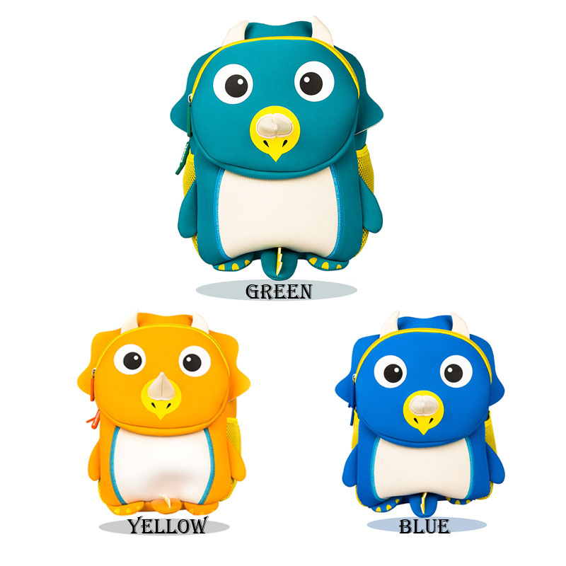 Lovely Children School Bags for Girls Boys 3D Cut Cartoon Dinosaur Design Student  Backpack Kids packbag Mochila Infantil