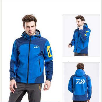 Daiwa Full Zip Windproof Fishing Jacket For Men Lightweight Windbreaker Softshell Outdoor Jacket With Hood