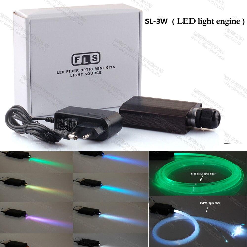 3w mini led light rgb optical fiber optic power supply light engine for car or home ceiling. Black Bedroom Furniture Sets. Home Design Ideas