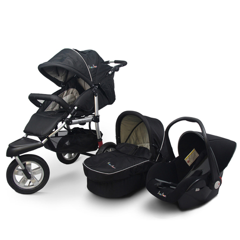 3 em 1 carrinho de bebe recem nascido ue carraige off road luz dobravel carrinho