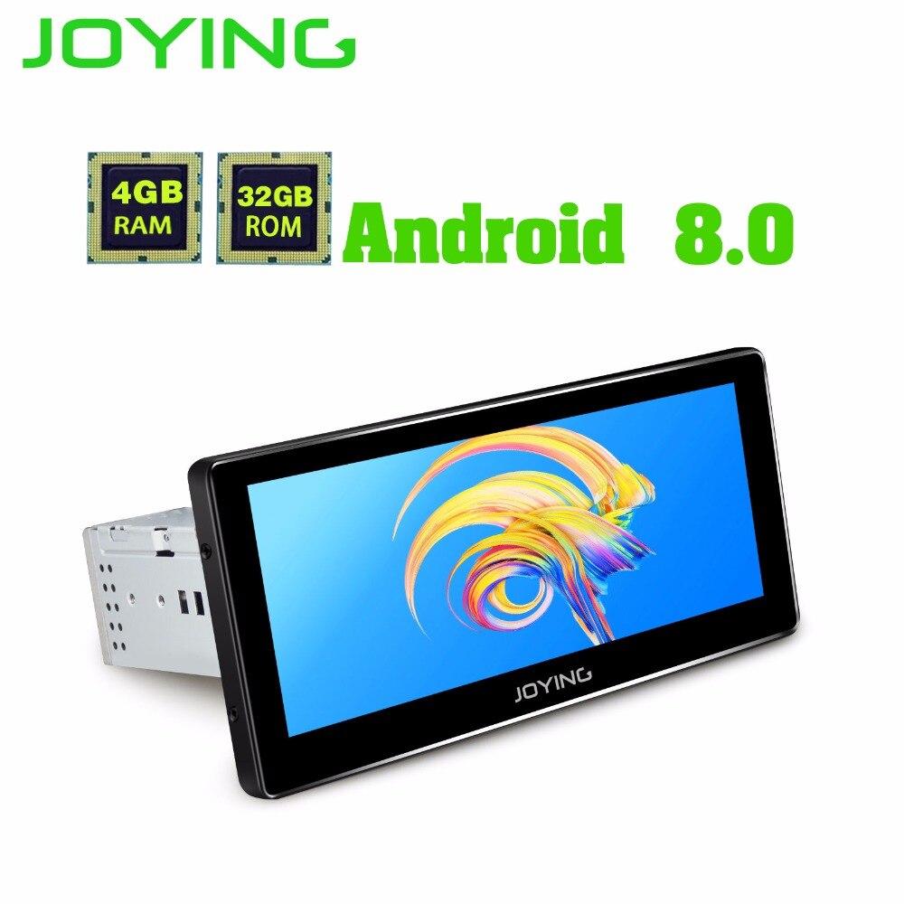 JOYING dernière 4 gb RAM 8 core Android 8.0 voiture autoradio autoradio soutien carplay GPS 1DIN Universel HD 8.8 ''Radio magnétophone